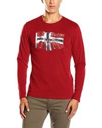 Camiseta de manga larga roja de Napapijri