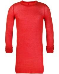 Camiseta de manga larga roja de Rick Owens