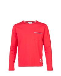 Camiseta de manga larga roja de Thom Browne