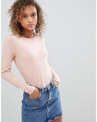 Camiseta de manga larga rosada de ASOS DESIGN