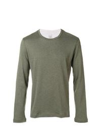 Camiseta de manga larga verde oliva de Eleventy