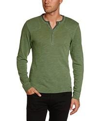 Camiseta de manga larga verde oliva de Esprit