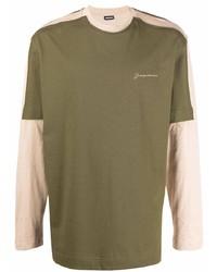 Camiseta de manga larga verde oliva de Jacquemus