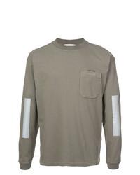 Camiseta de manga larga verde oliva de Stone Island