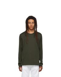 Camiseta de manga larga verde oliva de Thom Browne