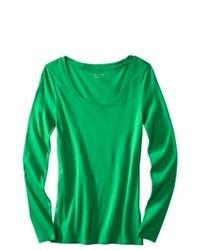 Camiseta de manga larga verde original 1285233