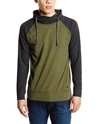 Camiseta de manga larga verde oscuro de Esprit