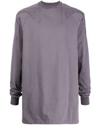 Camiseta de manga larga violeta claro de Rick Owens