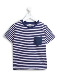 Camiseta de rayas horizontales azul marino