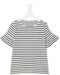 Camiseta de rayas horizontales blanca de Simonetta