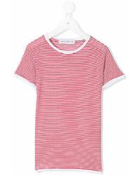 Camiseta de rayas horizontales en rojo y blanco