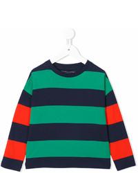 Camiseta de rayas horizontales verde