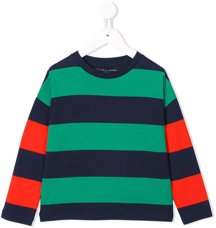 Camiseta de rayas horizontales verde de Stella McCartney
