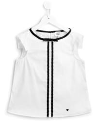 Camiseta de rayas verticales blanca de Armani Junior