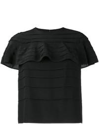 Camiseta de seda negra de Valentino