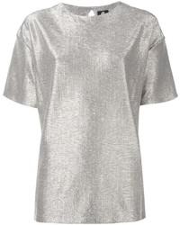 Camiseta de seda plateada de Paul Smith