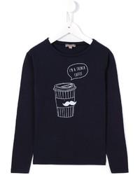 Camiseta estampada azul marino de Emile et Ida