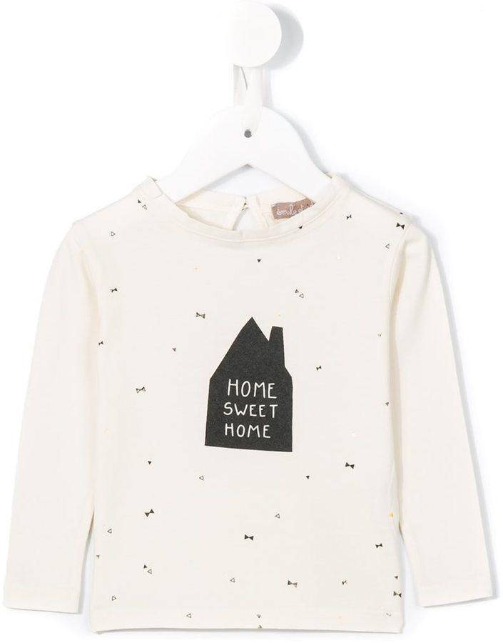 Camiseta Estampada Blanca de Emile et Ida