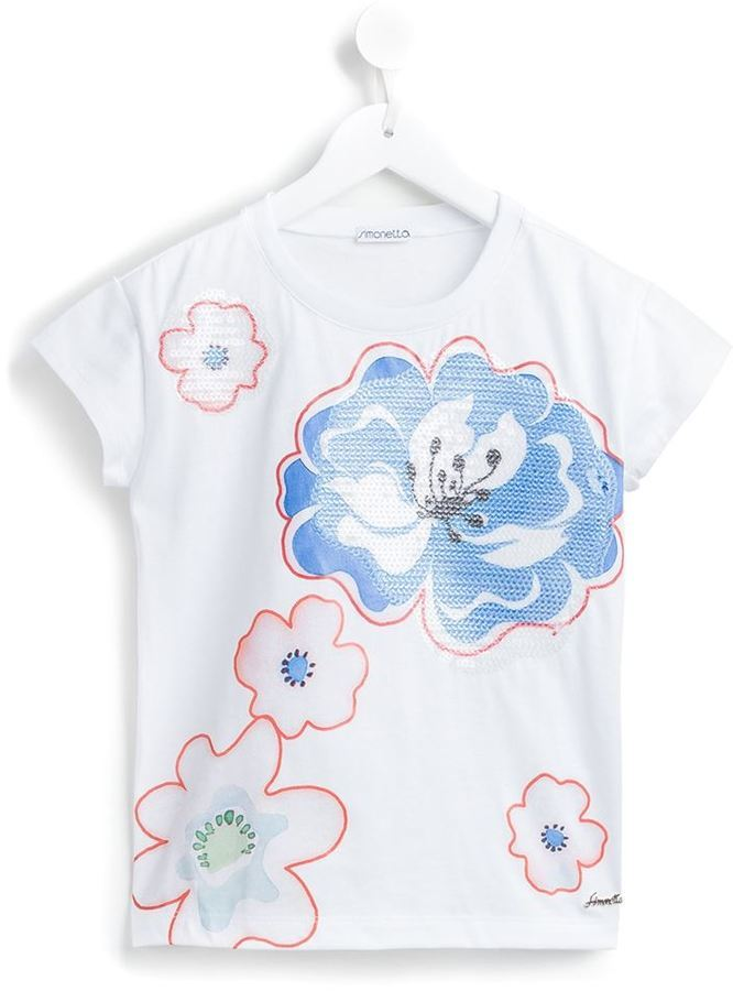 Camiseta estampada blanca de Simonetta