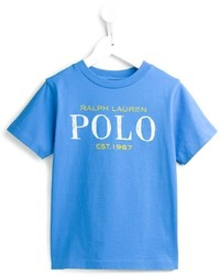Camiseta estampada celeste de Ralph Lauren
