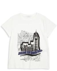 Camiseta estampada en blanco y negro
