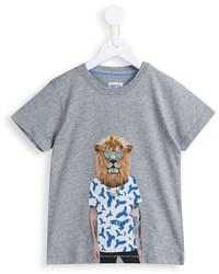 Camiseta estampada gris de Armani Junior