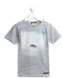 Camiseta estampada gris de Finger In The Nose