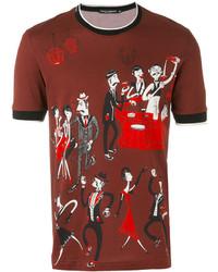Camiseta estampada marrón de Dolce & Gabbana