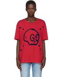 Camiseta Estampada Roja de Gucci