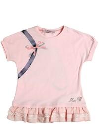 Camiseta estampada rosada