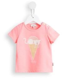 Camiseta estampada rosada de Paul Smith