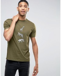 Camiseta Estampada Verde Oliva de Paul Smith