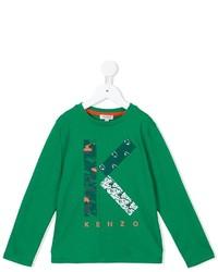 Camiseta estampada verde de Kenzo