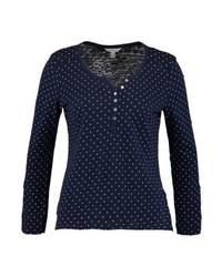 Camiseta henley a lunares azul marino de SPRINGFIELD