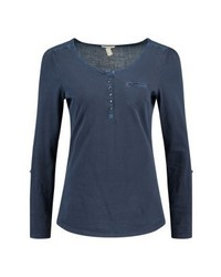 Camiseta henley azul marino de Esprit