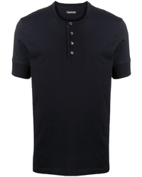 Camiseta henley azul marino de Tom Ford