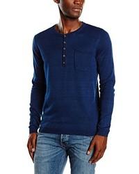 Camiseta henley azul marino de Tom Tailor