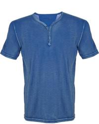 Camiseta henley azul