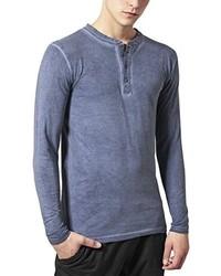 Camiseta henley azul de Urban Classics