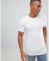 Camiseta henley blanca de ASOS DESIGN