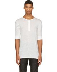 Camiseta henley blanca de Balmain