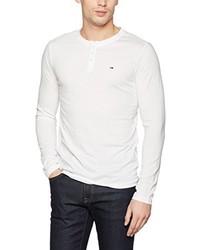 Camiseta henley blanca de Hilfiger Denim