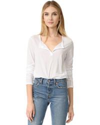 Camiseta henley blanca de James Perse