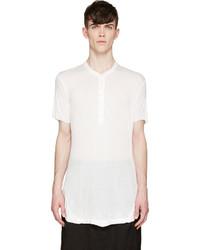 Camiseta henley blanca de Julius