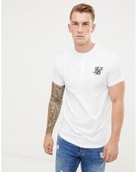Camiseta henley blanca de Siksilk