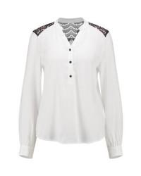 Camiseta henley blanca de Vero Moda
