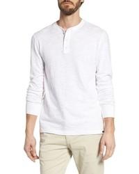 Camiseta henley de manga larga blanca