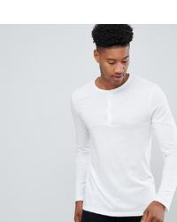 Camiseta henley de manga larga blanca de ASOS DESIGN