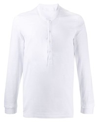 Camiseta henley de manga larga blanca de Neil Barrett