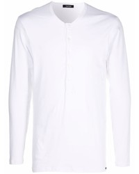 Camiseta henley de manga larga blanca de Tom Ford